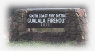 Gualala Firehouse sign